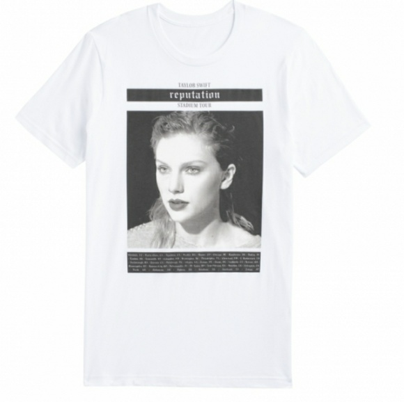 a0b367207 Taylor Swift Tops | 325 Reputation Graphic White Tee | Poshmark